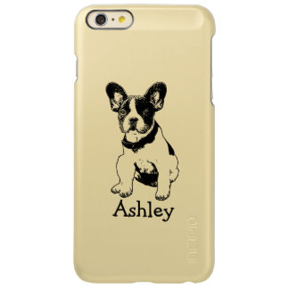 Personalized Cute Sweet French Bulldog Puppy Incipio Feather Shine iPhone 6 Plus Case