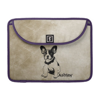 Personalized Cute Sweet French Bulldog Puppy Sleeve For MacBook Pro