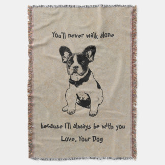 Personalized Cute Sweet Pet Dog Quotes Love Throw