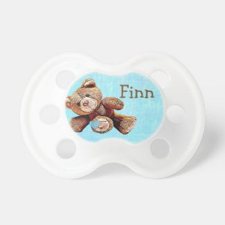 Personalized cute Teddy Bear Baby Boy's Pacifier