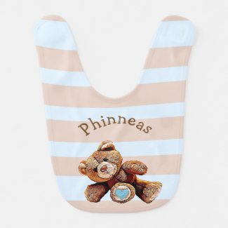 Personalized Cute Teddy Bear Bib