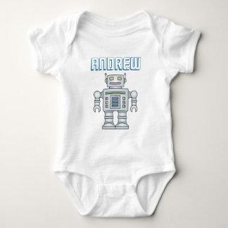 Personalized cute toy robot baby boy 1st Birthday Baby Bodysuit