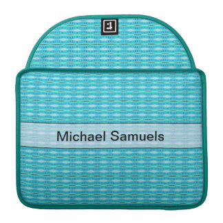 Personalized cute turquoise pattern MacBook pro sleeve