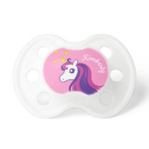 Personalized cute unicorn pacifier for baby girl