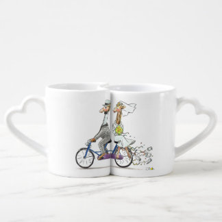 personalized cute wedding couple - giraffes coffee mug set