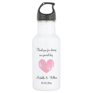 Personalized cute wedding party favor water bottle 18oz water bottle