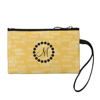 Personalized  Cute Yellow Love Bag Coin Purse