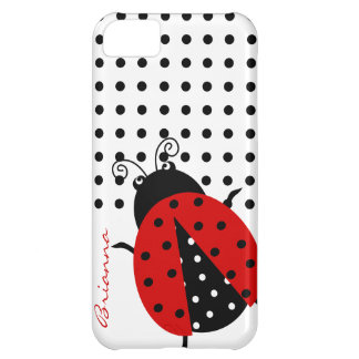 Personalized CutePolka Dot Red Ladybug iPhone 5C Cover