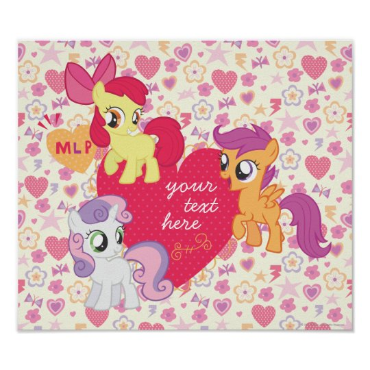 Personalized Cutie Mark Crusaders Poster