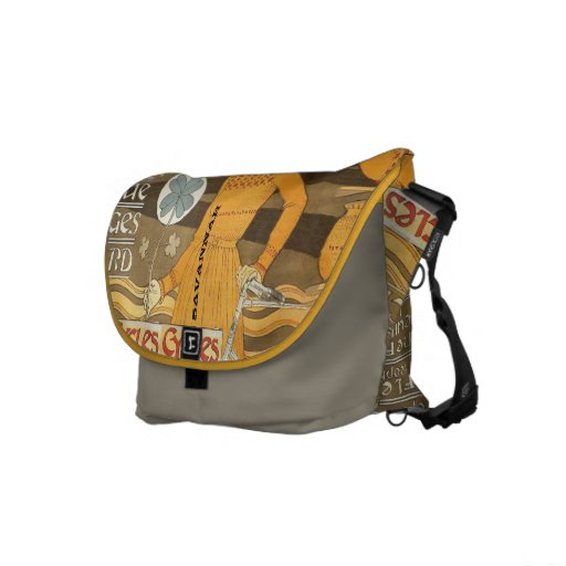 Personalized Cycle Vintage Girl Messenger Bag