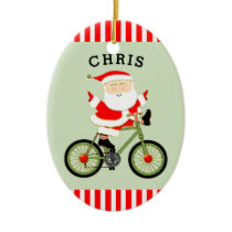 personalized cyclist collectible ceramic ornament