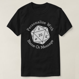 PERSONALIZED D20 Dice Shirt