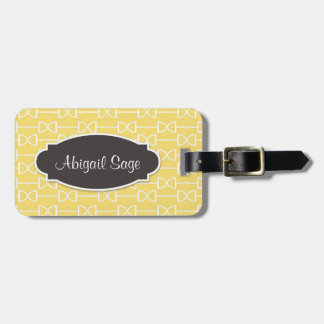 Personalized D Ring Snaffle Horse Bit Yellow Bag Tag