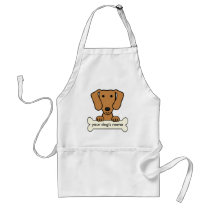 Personalized Dachshund Adult Apron