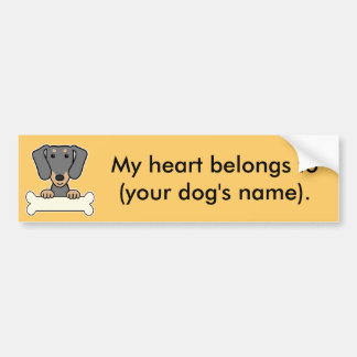 Personalized Dachshund Bumper Sticker