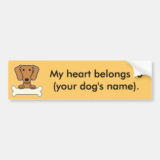 Personalized Dachshund Bumper Stickers