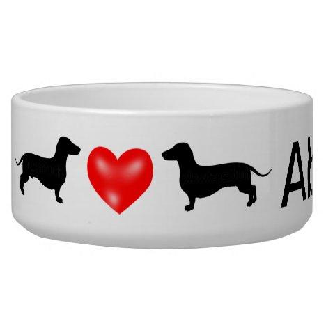 Personalized Dachshund Dog Bowl