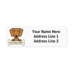 Personalized Dachshund Label