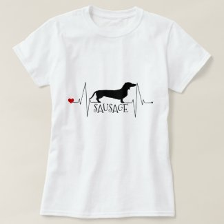 Personalized Dachshund Love My Dog Heart Beat T-Shirt