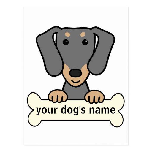 Personalized Dachshund Postcard