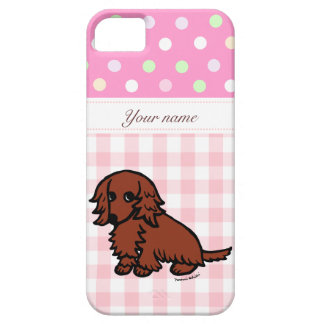Personalized Dachshund Red Long Haired iPhone 5 Case