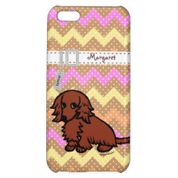 Case Savvy Matte Finish iPhone 5C Case with Dachshund Phone Cases design