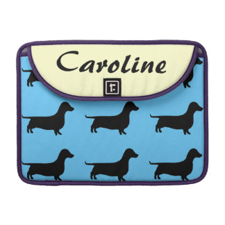 Personalized Dachshund Silhouette any color Sleeve For MacBooks