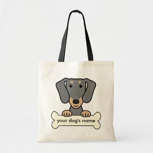Personalized Dachshund Tote Bag