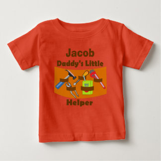 """Personalized """"Daddy's Little Helper"""" Baby T-Shirt"""