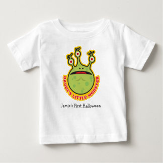 Personalized Daddy's Little Monster Baby T-Shirt