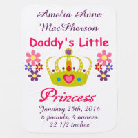 Personalized Daddy's Little Princess Baby Blanket