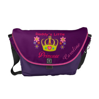 Personalized Daddy's Little Princess Messenger Bag