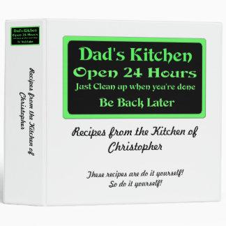 Personalized Dad's Kitchen recipe binder