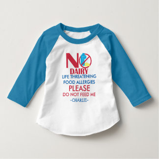 Personalized Dairy Allergy Shirt, Do not feed me T-Shirt
