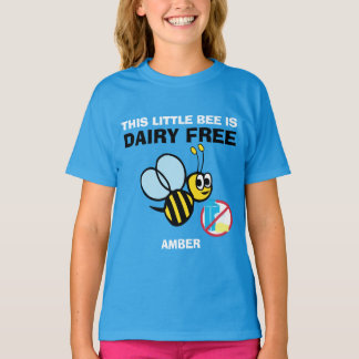 Personalized Dairy Free Bumble Bee Alert Shirt