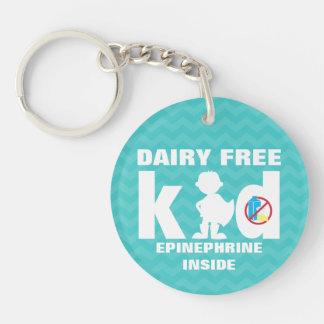 Personalized Dairy Free Super Boy Allergy Kids Keychain