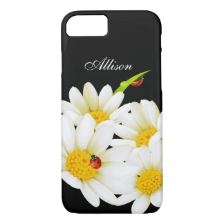 Personalized Daisies and Ladybugs iPhone 7 case