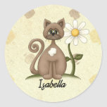 Personalized Daisy & Cat Products Stickers