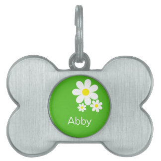 Personalized Daisy Pet Tag
