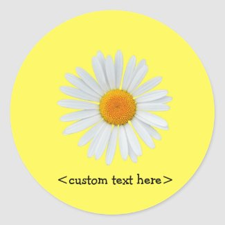 Personalized daisy stickers