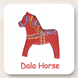 Personalized Dala Horse Coaster Set