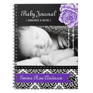 Personalized Damask Baby Journal