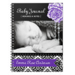 Personalized Damask Baby Journal Note Books
