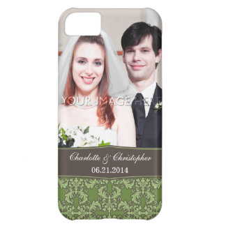 Personalized Damask Bride & Groom iPhone 5 Case