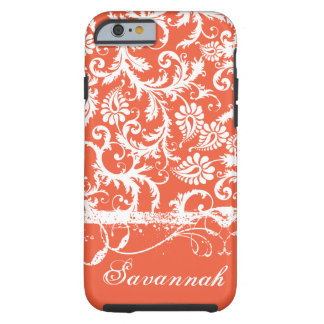 Personalized Damask iPhone 6 case-You Choose Color Tough iPhone 6 Case