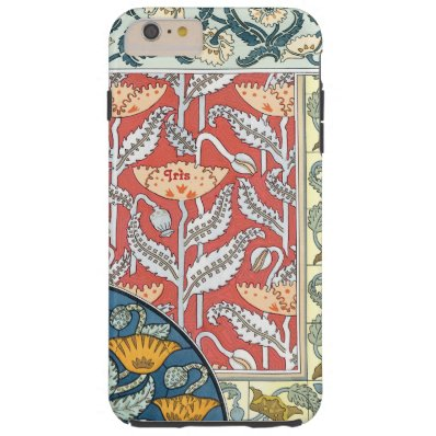 Personalized Damask iPhone 6 case-You Choose Color Tough iPhone 6 Plus Case