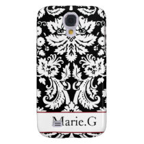 personalized damask pink Pern 3 casing Samsung Galaxy S4 Case