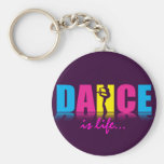Personalized Dance Dancer Basic Round Button Keychain