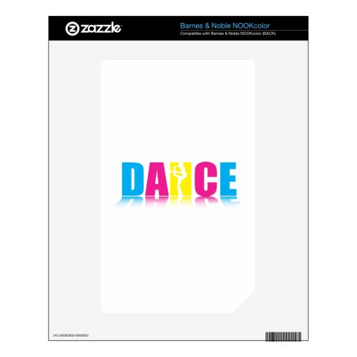 Personalized Dance Dancer Decal For The NOOK Color
