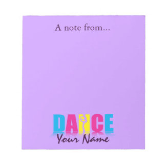 Personalized Dance Dancer Note Pads